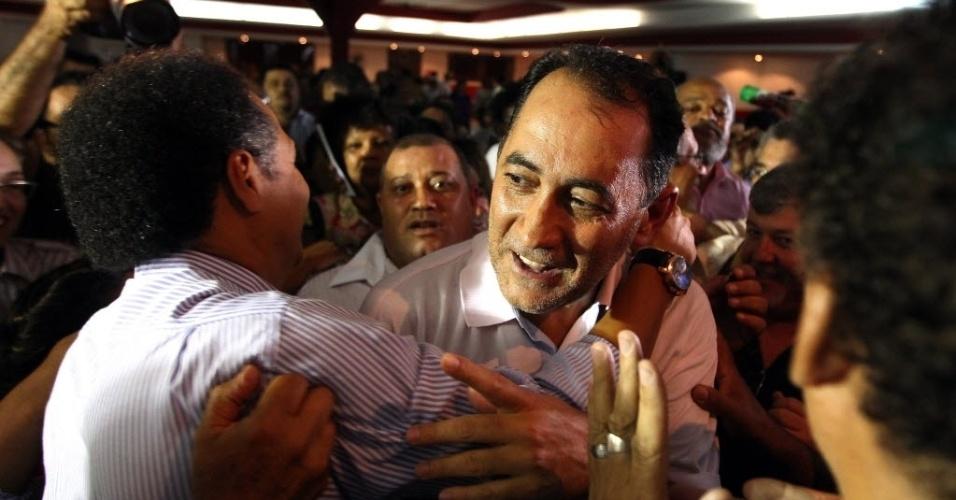 16.jan.2014 - O deputado federal João Paulo Cunha (PT-SP) afirmou nesta quinta-feira (16) que a reeleição da presidente Dilma Rousseff em 2014 é