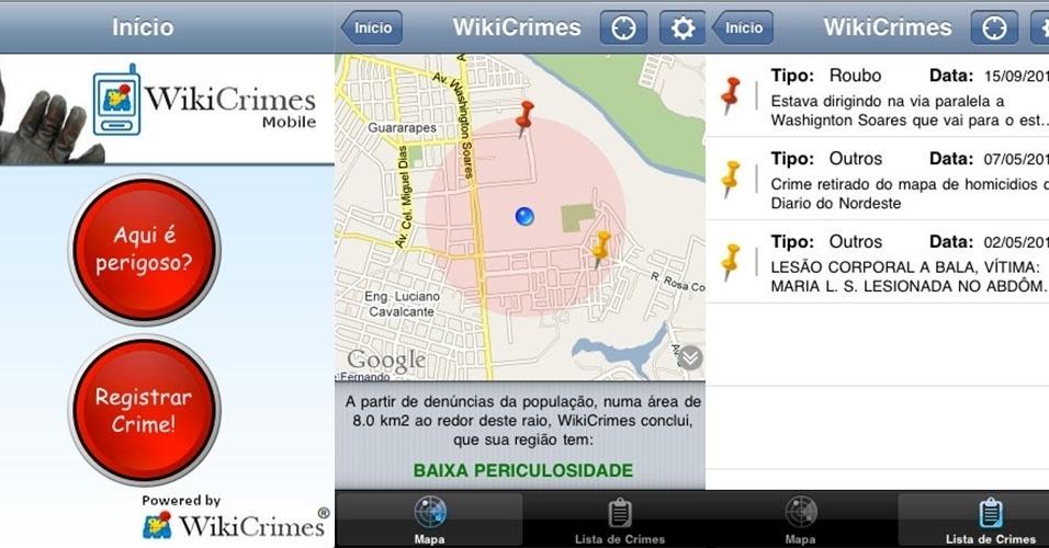 Aplicativo Wikicrimes