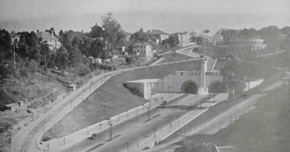 Avenida Nove de Julho, em 1945