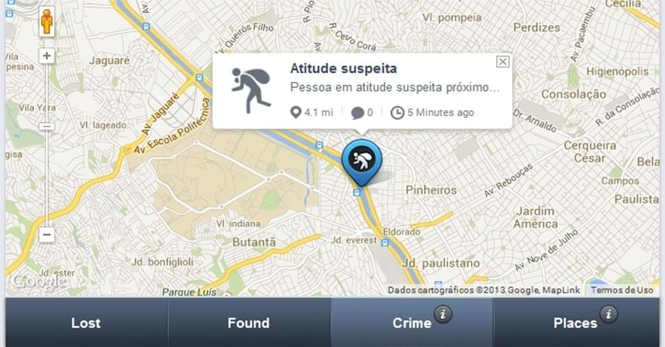 O aplicativo Crowdfynd, disponível em inglês, permite ao usuário tirar fotos com o smartphone para incluir no alerta, utilizar o GPS do aparelho para marcar a localização em mapas e oferecer recompensas para quem recuperar objetos perdidos