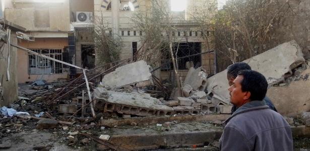 20.jan.2014 - Local onde um ataque com carro-bomba matou duas pessoas e deixou outras dez feridas em Tuz Khurmatu, disputada por curdos e turcomenos xiitas