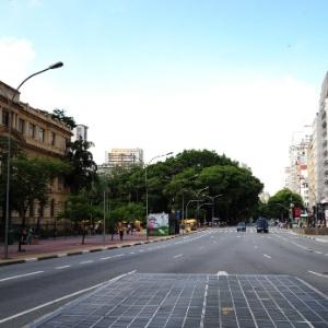 Imagem da avenida Ipiranga, ao lado da praça da República