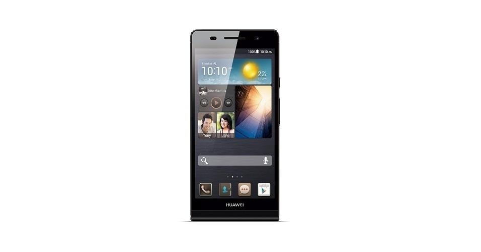 Ao pegar o Ascend P6 pela primeira vez, percebe-se sua semelhança física com um iPhone 5s. Revestido por alumínio e plástico, ele conta com tela de 4,7 polegadas e tem Gorilla Glass (algo inexistente no iPhone), para evitar riscos. Apesar de ser comercializado em branco nos mercados internacionais, no Brasil ele é vendido apenas em preto ou rosa. Preço: R$ 1.500