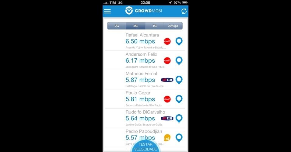 Saiba como funciona o Crowdmobi, aplicativo que testa velocidade da internet móvel
