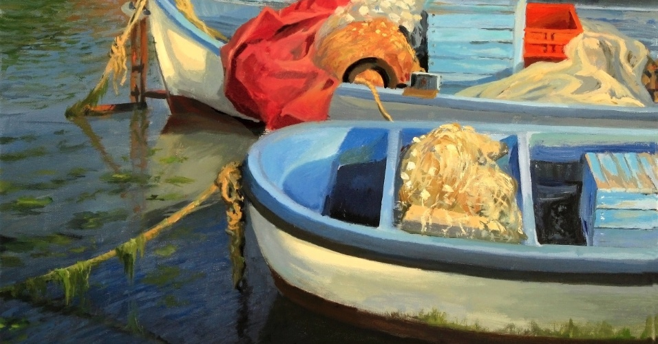 barcos; barcos de pesca; pintura