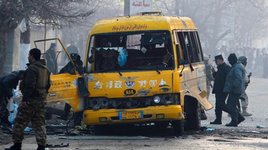 26.jan.2014 - Ataque suicida em Cabul (Afeganistão) reivindicado pelo Talibã - Omar Sobhani/Reuters