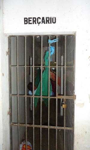 28.jan.2014 - Apesar de haver um bebê de seis meses na Penitenciária Mista de Parnaíba (a 354 km de Teresina), o berçário da unidade prisional está desativado para abrigar presos do sexo masculino por conta da superlotação. A penitenciária tem lotação para 136 presos, mas abriga 372, mais que o dobro da capacidade