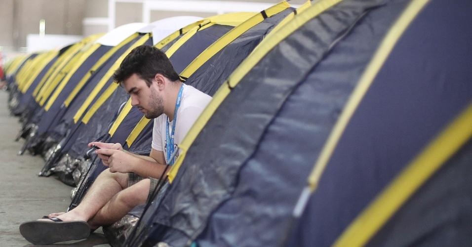 Há cerca de 5.000 barracas da Campus Party; 8.000 pessoas devem acampar no evento realizado no Parque Anhembi, em São Paulo