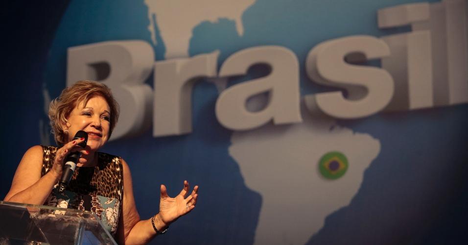 Marta Suplicy, ministra da Cultura, faz apresentação na abertura da Campus Party 2014. Na ocasião, ela lançou um edital voltado para economia criativa. A ideia é enviar 52 empreendedores culturais para rodadas de negócios entre dez países do Mercosul, em maio, na Argentina