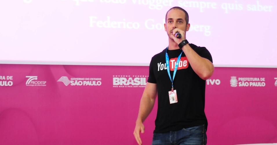Federico Goldenberg, gerente de parcerias estratégicas do YouTube, fala na Campus Party 2014 sobre como canais do serviço podem crescer