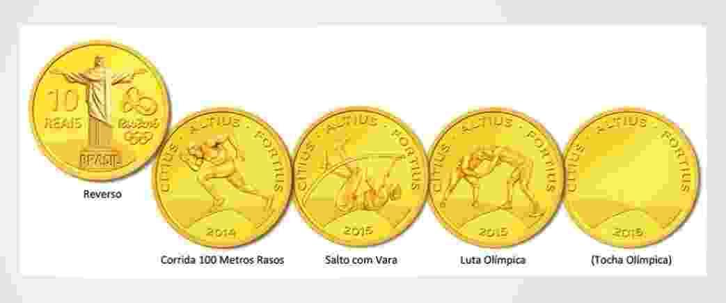 O Conselho Monetário Nacional aprovou nesta quinta-feira (30) o lançamento de 36 moedas comemorativas dos Jogos Olímpicos e Paralímpicos de 2016, que serão disputados no Rio de Janeiro - Reprodução/CMN
