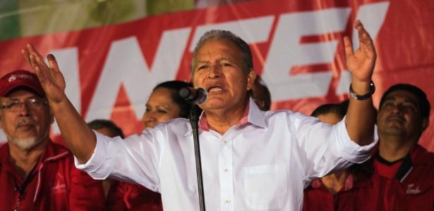 O ex-guerrilheiro Salvador Sanchez Cerén venceu as eleições em 2014