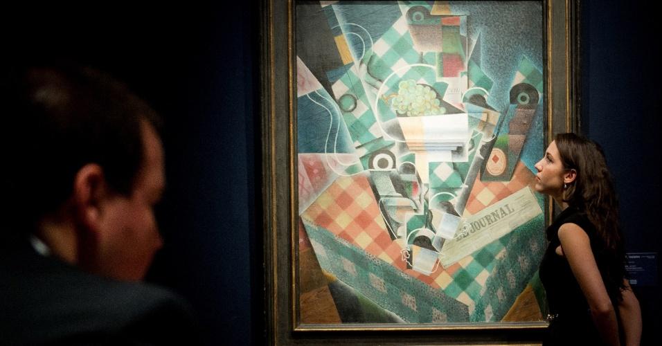 """5.fev.2014 - Quadro do pintor espanhol Juan Gris alcançou US$ 57 milhões em um leilão realizado em Londres, na terça-feira (4). """"Nature morte à la nappe à carreaux"""" foi vendido pela tradicional Casa Christie's"""