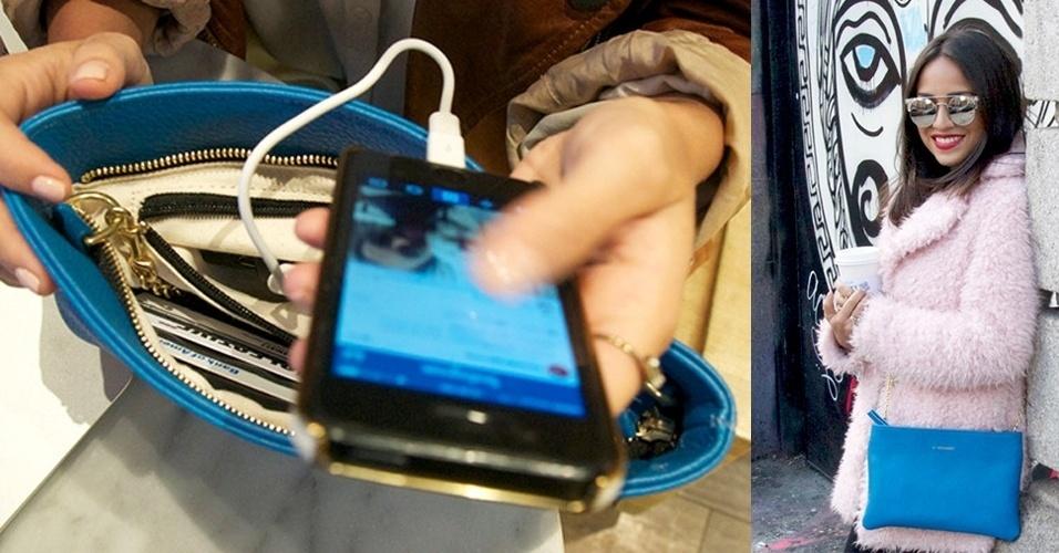 6.fev.2014 - Se você ficou sem bateria e não tem uma tomada por perto, essa bolsa promete dar uma mãozinha para recarregar seu smartphone ou tablet onde quer que você esteja. Isso porque dentro dela há um carregador portátil. Basta dar carga nele previamente e depois usá-lo com qualquer dispositivo com USB. A Empowered é vendida por US$ 149 (R$ 355) e tem onze cores diferentes. Porém, todas as unidades foram esgotadas em pré-encomenda. A empresa promete repor o estoque em meados de fevereiro
