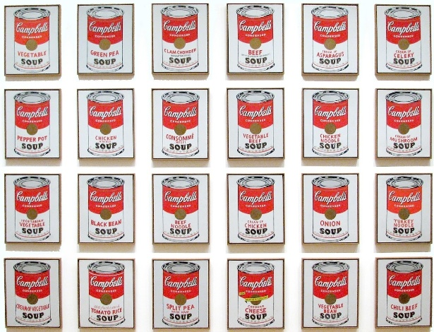 Latas de Sopas Campbell, Andy Warhol, 1962 The Museum of Modern Art (MoMA) - MoMA