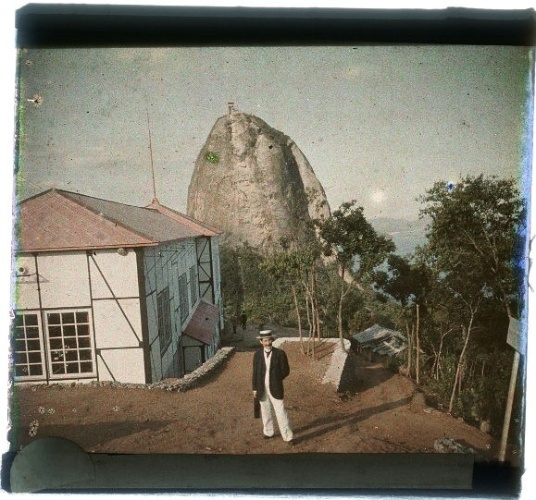 Marc Ferrez. Vista do Pão de Açúcar, tomada do Morro da Urca, c. 1914 (RJ)