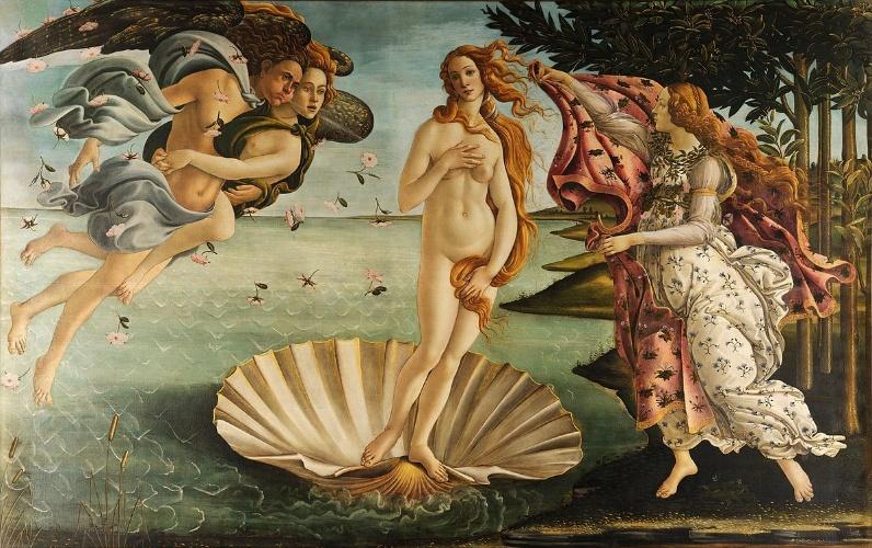 O Nascimento de Vênus, Sandro Botticelli