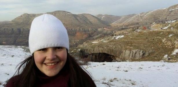 A estudante Siham Kassab estava de férias no Líbano quando soube da aprovação na universidade - Arquivo pessoal