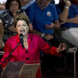 Dilma discursa durante 34º aniversário do PT, em 2014