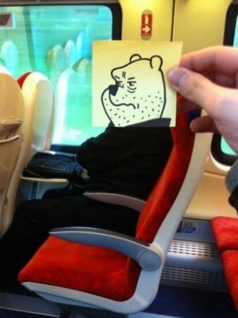 As criações do ilustrador Joe Butcher fazem sucesso na web ao misturar o corpo de passageiros com rostos de personagens conhecidos. Não há informações sobre a localização dos trens, mas o ''Daily Mail'' afirma que Butcher cresceu em Birmingham (Reino Unido). Ele também é criador do Tumblr ''Text From My Dog'', que relata troca de mensagens de texto entre um cachorro e seu dono