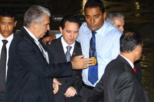 O então deputado federal Natan Donadon (sem partido-RO) deixa a Câmara após ter o mandato cassado