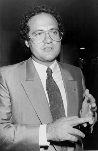 29.mar.1990 - Deputado Renan Calheiros, lider do governo, no Congresso Nacional