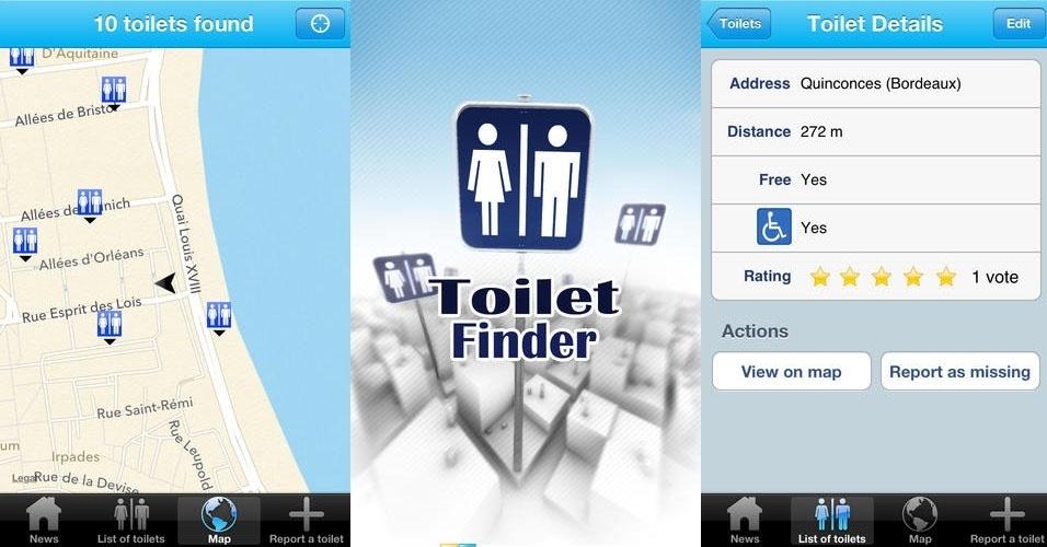 Na hora do aperto, quando você precisa de um banheiro, o smarphone pode ser um aliado. Isso porque alguns aplicativos mostram o toalete mais próximo, com informações como a avaliação da limpeza ou mesmo condições de acessibilidade. Veja o que oferecem essas quatro opções.