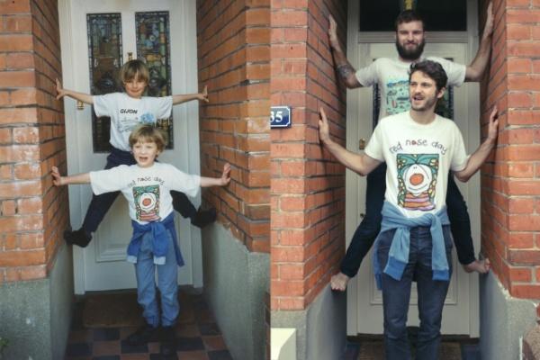 17.fev.2014 - Tumblr reúne imagens de irmãos que reconstituíram nos mínimos detalhes suas fotos da infância