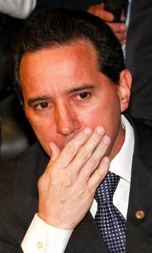 19.fev.2014 - O deputado licenciado Natan Donadon (PMDB - RO) renunciou para fugir de cassação pelos crimes de peculato e formação de quadrilha