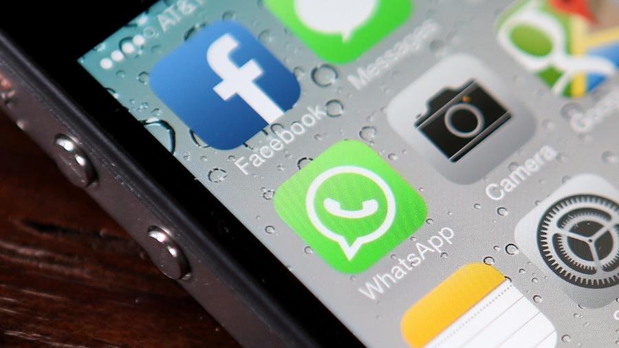 Facebook whatsapp aquisição compra fusão app redes sociais chamada logo logotipo - Justin Sullivan/Getty Images/AFP