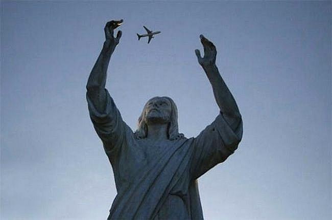 Jesus, pega este avião!