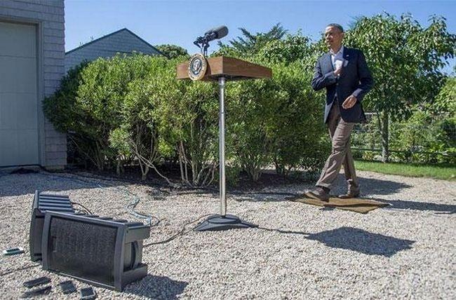 Obama é tão poderoso que até flutua