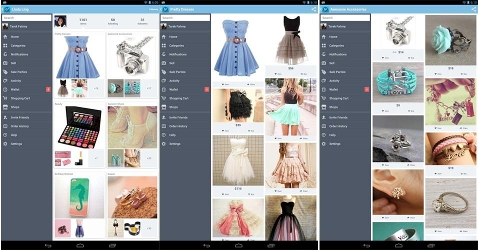 Aplicativos permitem tirar fotos de produtos que você gostou, criar listas de desejos online e compartilhar o conteúdo com os amigos -- além de armazenar itens selecionados por essas pessoas. Confira três opções