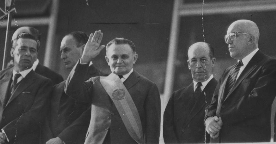 Posse do marechal Humberto de Alencar Castello Branco, presidente da República de 1964 a 1967