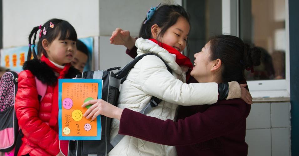 16.fev.2014 - Volta às aulas após as férias de inverno na China