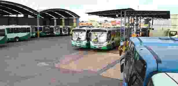 24.fev.2014 - Garagem de ônibus em Belo Horizonte (MG) - Fernanda Carvalho/O Tempo/Estadão Conteúdo - Fernanda Carvalho/O Tempo/Estadão Conteúdo