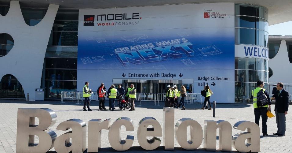 24.fev.2014 - Feira de tecnologias móveis MWC (Mobile World Congress) é realizada em Barcelona (Espanha) entre dias 24 e 27 de fevereiro