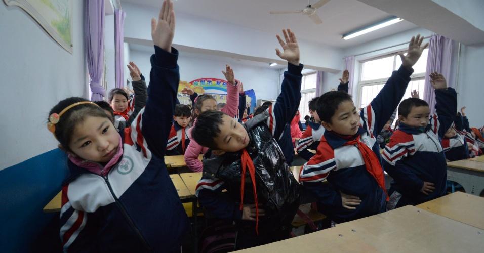 24.fev.2014 - Volta às aulas após as férias de inverno na China