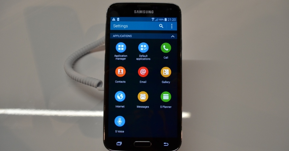 A personalização da Samsung no Android modificou levemente os ícones presentes no sistema operacional. Na imagem, os ícones da seção configurações