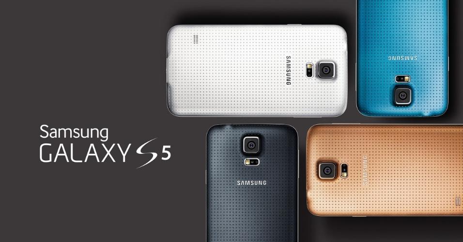 Samsung Galaxy S5 será vendido em quatro opções de cores: preto, branco, azul e dourado