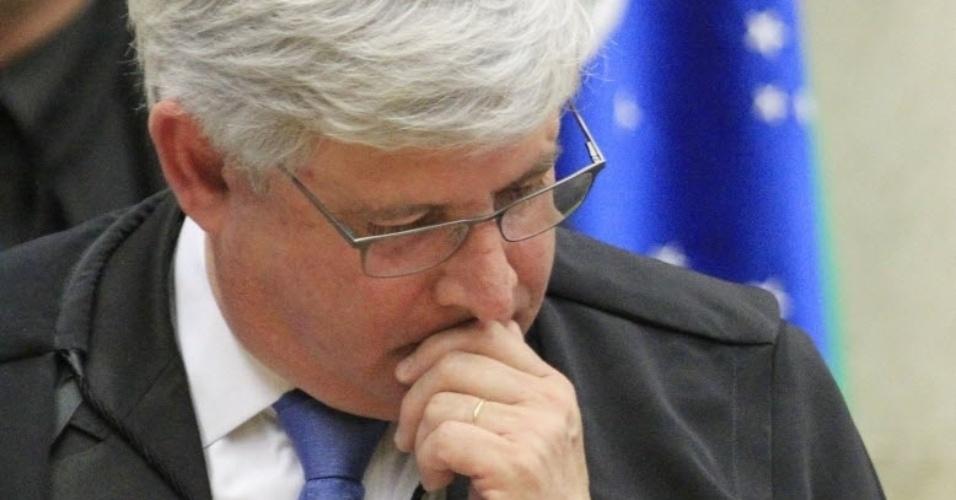 26.fev.2014 - O procurador-geral da República Rodrigo Janot participa nesta quarta-feria (26) da parte final do julgamento do mensalão, no STF (Supremo Tribunal Federal)