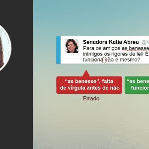 Erros de português dos políticos no Twitter - Arte/UOL