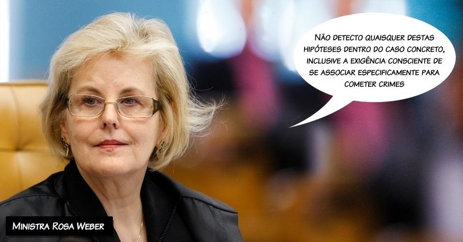 27.fev.2014 - A ministra do STF (Supremo Tribunal Federal) Rosa Weber votou pela absolvição dos oito réus do mensalão pelo crime de formação de quadrilha.