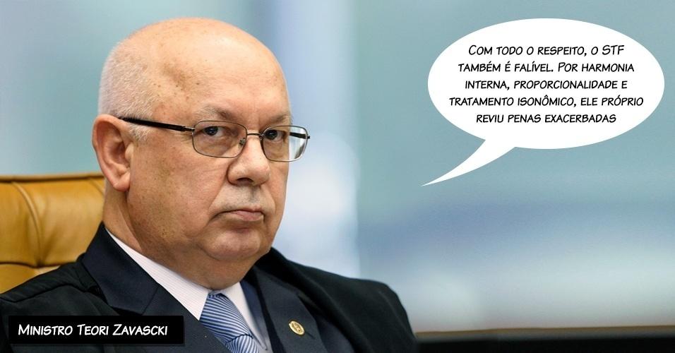 27.fev.2014 - O ministro do STF (Supremo Tribunal Federal) Teori Zavasck votou pela absolvição dos oito réus do mensalão pelo crime de formação de quadrilha.