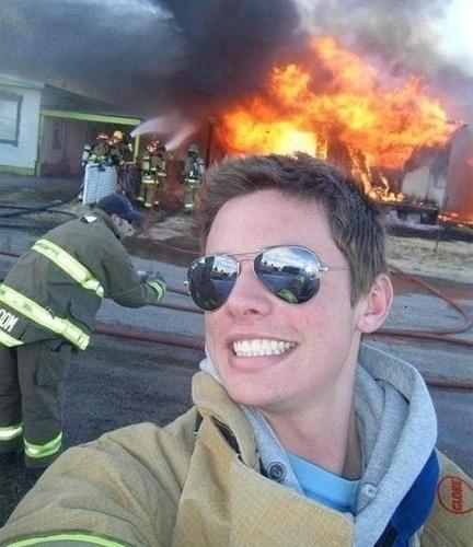Selfie do bombeiro