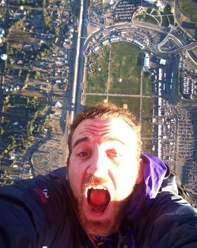 Selfie durante salto livre