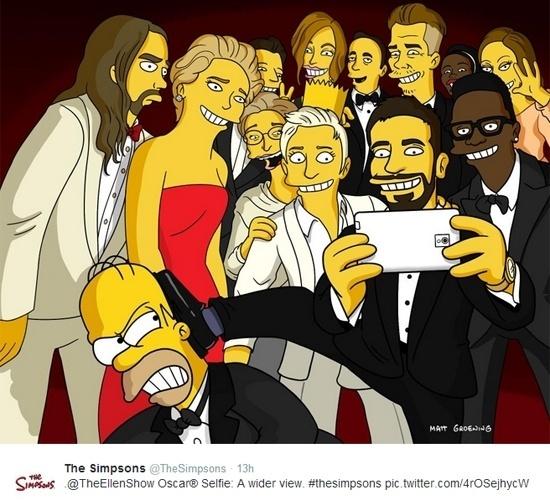 A conta oficial de 'Os Simpsons' no Twitter publicou a paródia acima