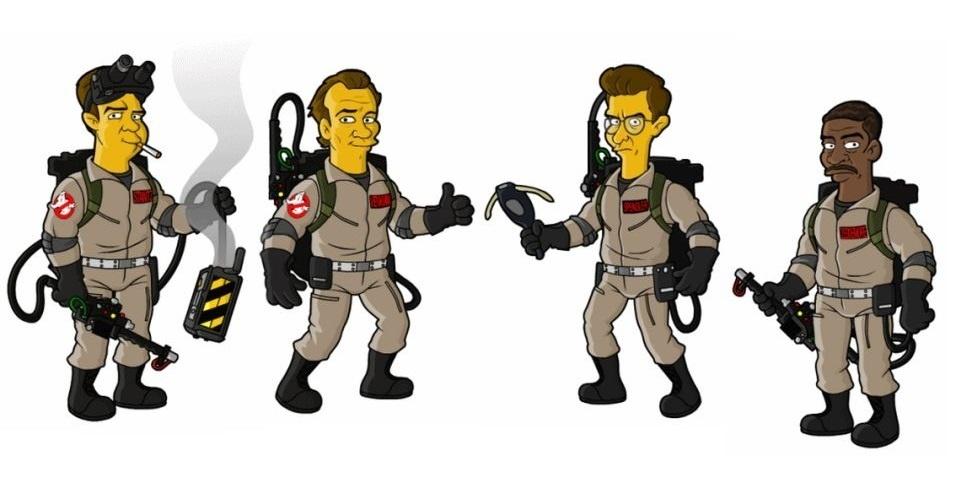 Filme 'Ghostbusters' versão 'Os Simpsons'