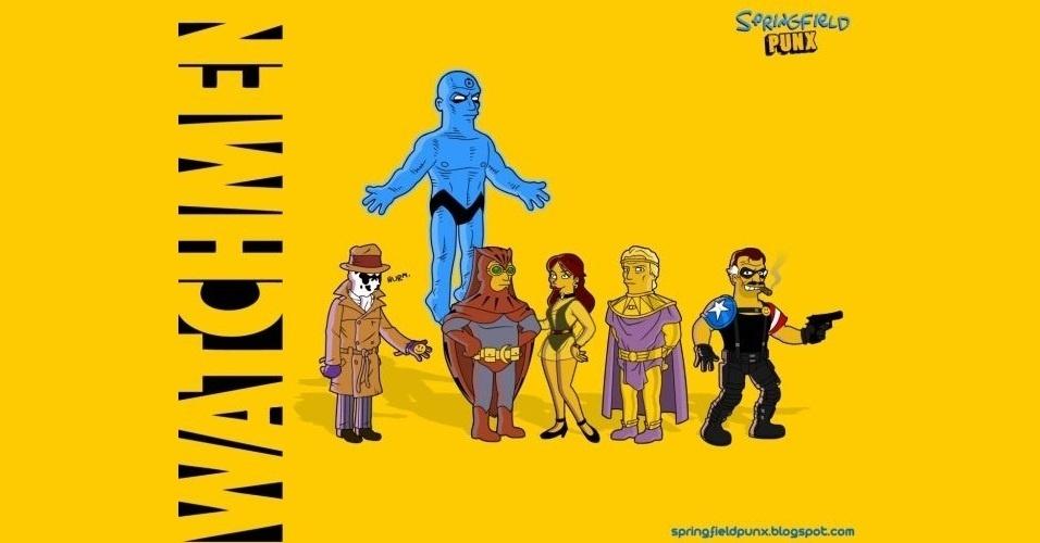 Filme 'Watchmen' versão 'Os Simpsons'