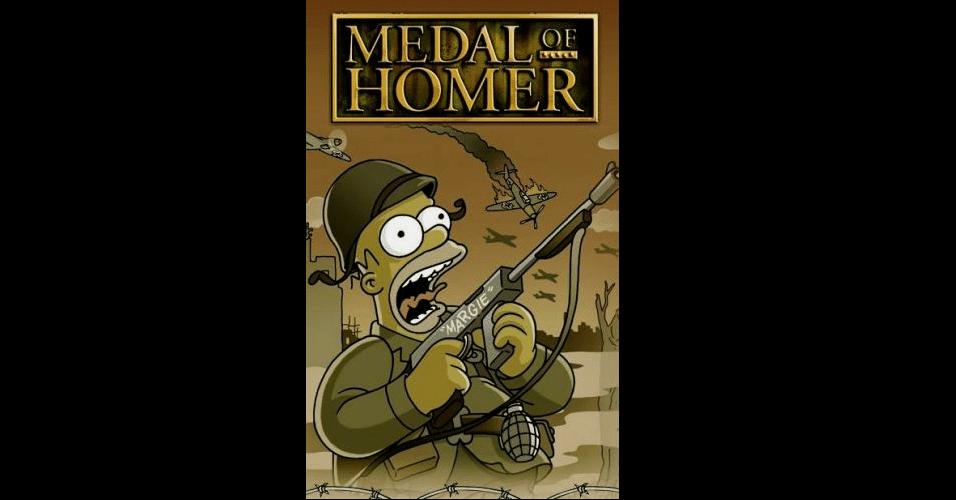 Jogo 'Medal of Honor' versão 'Os Simpsons'